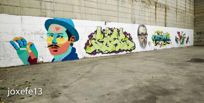 Alex de la Iglesia Akse graffitigile ezagunaren begietatik
