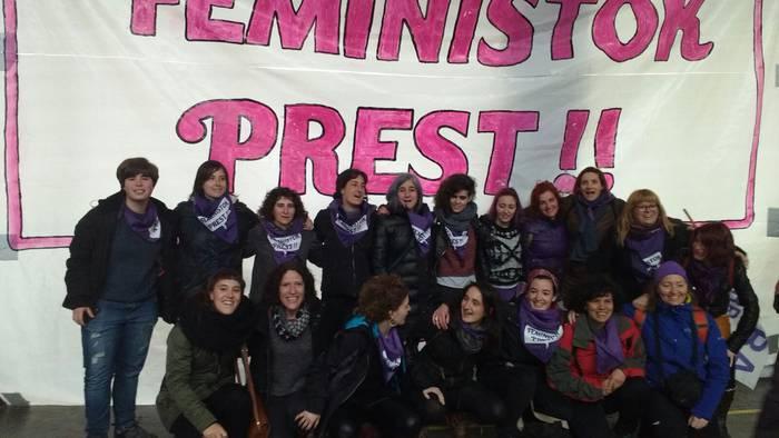 Bergarako Martxanterak talde feminista Gasteizeko manifestazioan