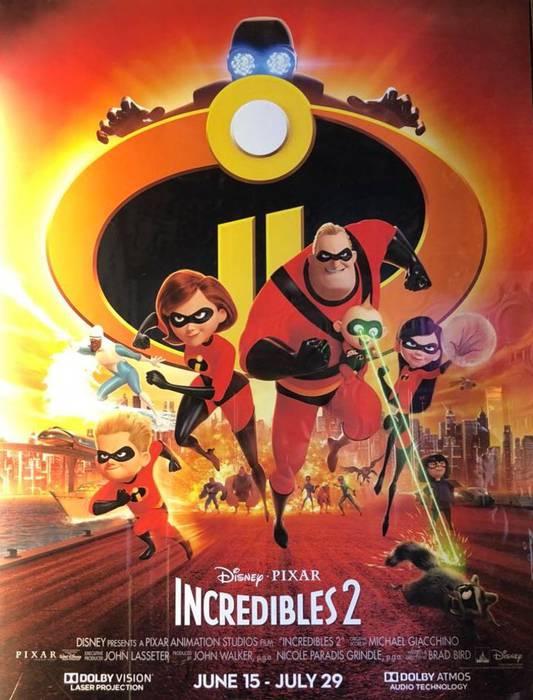 'Los Increibles 2' filmaren emanaldia