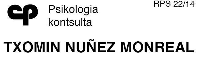 Nuñez Txomin psikologia logotipoa