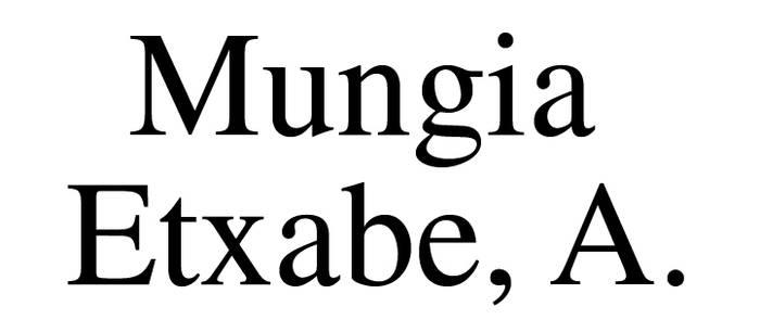 MUNGIA ETXABE, A. abokatua logotipoa