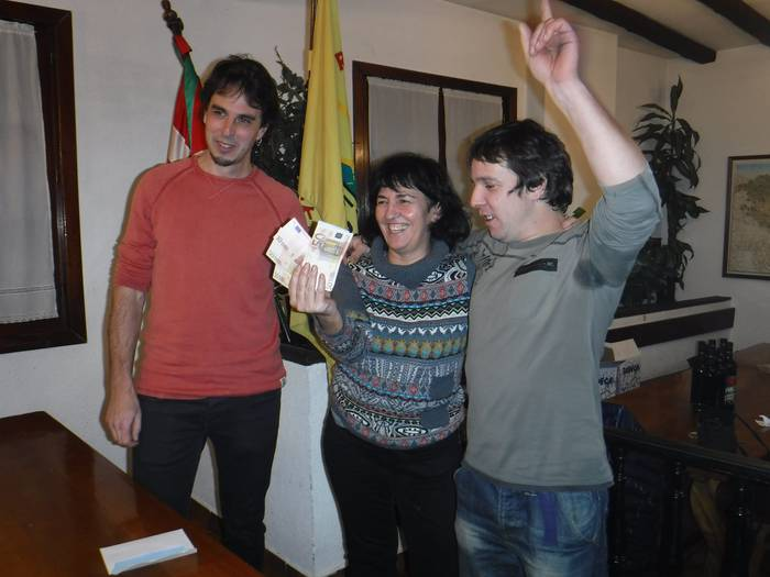 Unai Etxeberria eta Ibai Elortza Euskal Herriko IX. Mus Txapelketako Bergarako kanporaketako garaileak