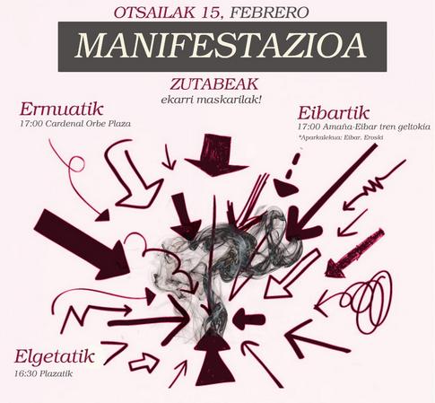 Manifestazioa Eitzagara