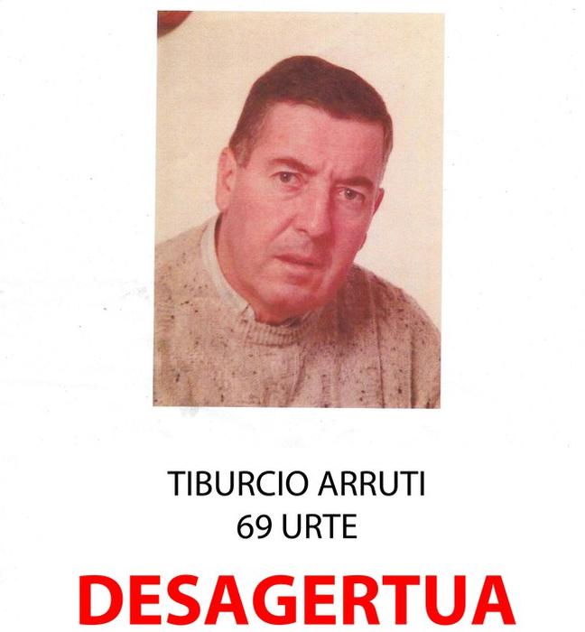69 urteko gizonaren bila segitzen dute, Urbia-Aloña aldean