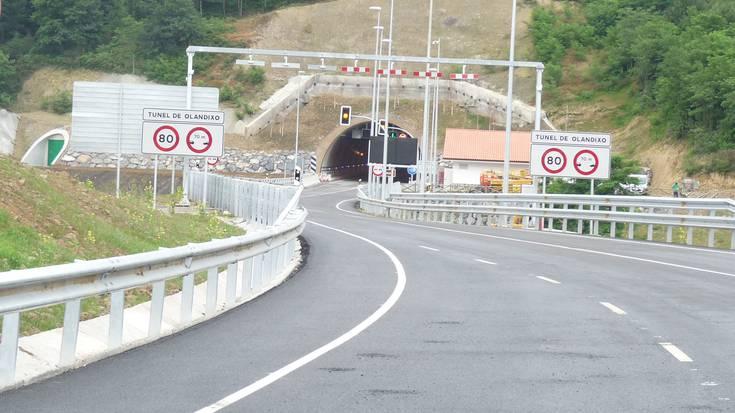 Olandixoko tunela itxita martitzen goizean