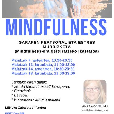 Mindfulness: Garapen pertsonal eta estres murrizketa