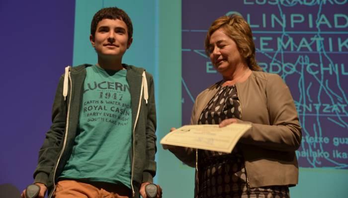 Ipintza Institutuko Patxi Abasolok saria lortu du Olinpiada Matematikoan