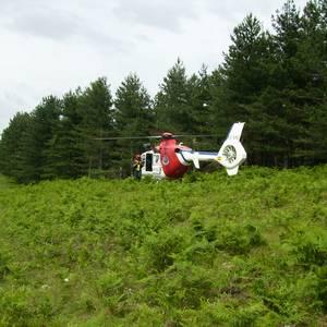 Helikoptero istripua Araotzen