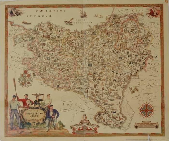 Euskal Herriaren bilakaera historian, mapen bidez