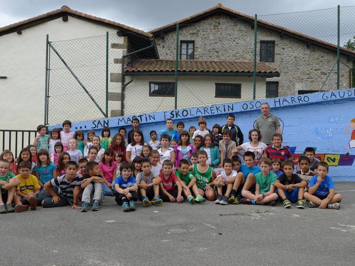 Gaur hasi dute ikasturtea Aramaioko San Martin eskolan