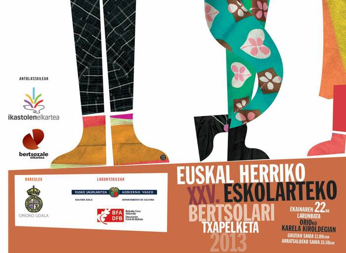 Lau aramaioar Euskal Herriko Eskolarteko XXV. Bertsolari Txapelketan