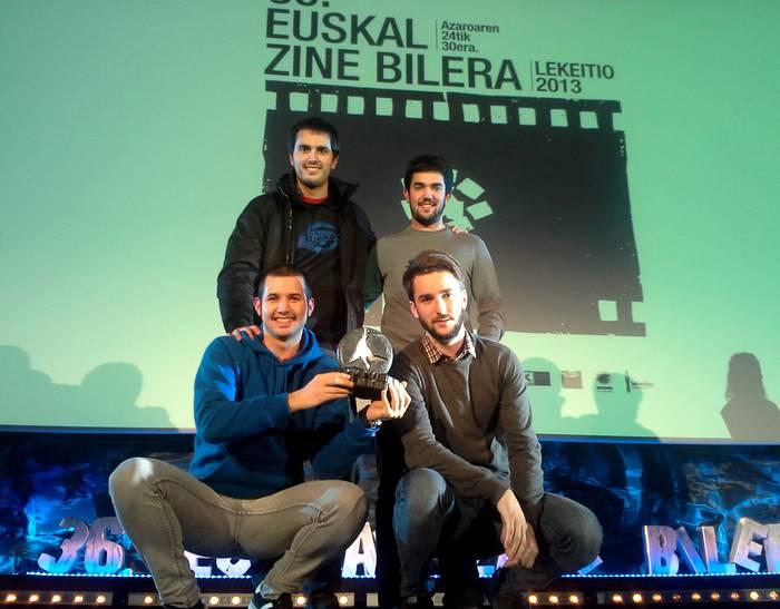 Debagoiendarren 'Etxehuts' filma garaile Lekeitioko Euskal Zine Bileran