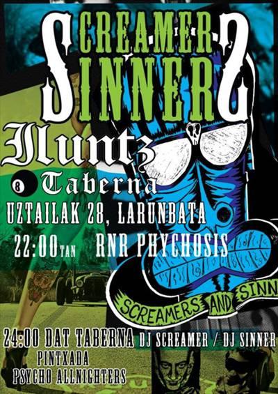 Screamers & Sinners taldearen lehen kontzertua