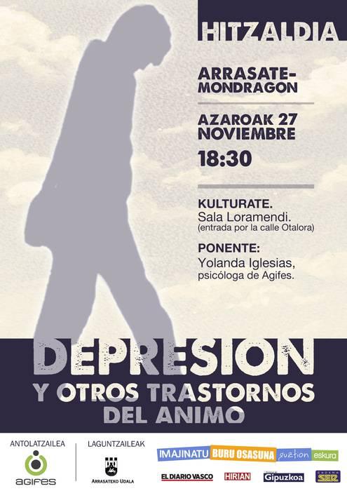 Agifesek depresioa ekiditeko eta gainditzeko inguruko hitzaldia Arrasaten