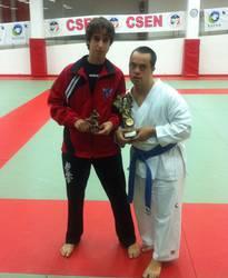 Bikain jardun du Alex Elortondo karatekak V. nazioarteko txapelketan