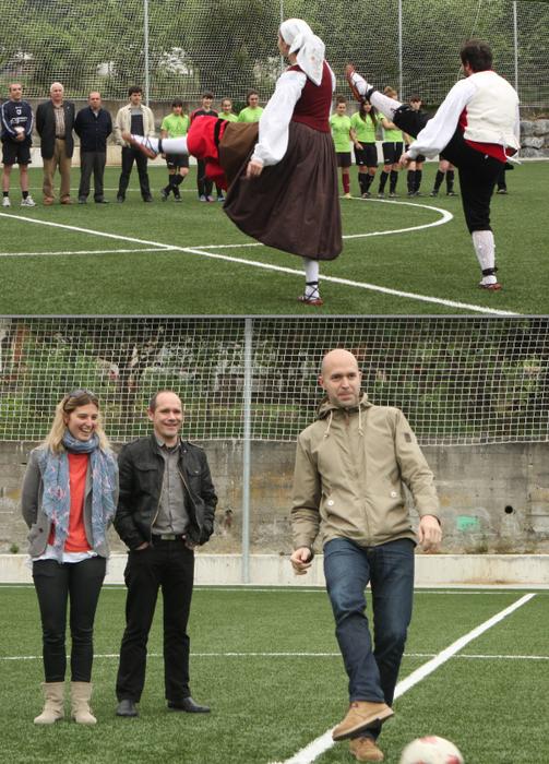 Larrañako  futbol zelaia, inauguratuta