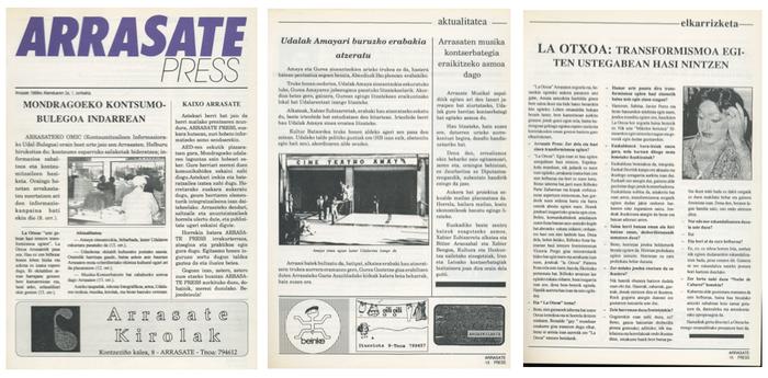 'Arrasate Press'-ek 25 urte bete ditu gaur