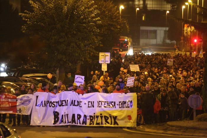 Lanpostuen defentsa aldarrikatu dute Fagor Etxetresnetako eta Edesako langileek Arrasateko manifestazioan