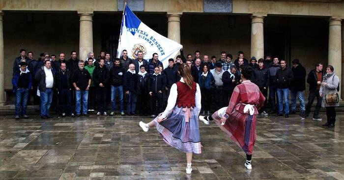 Kontxako bandera Elgetan izan da asteburuan