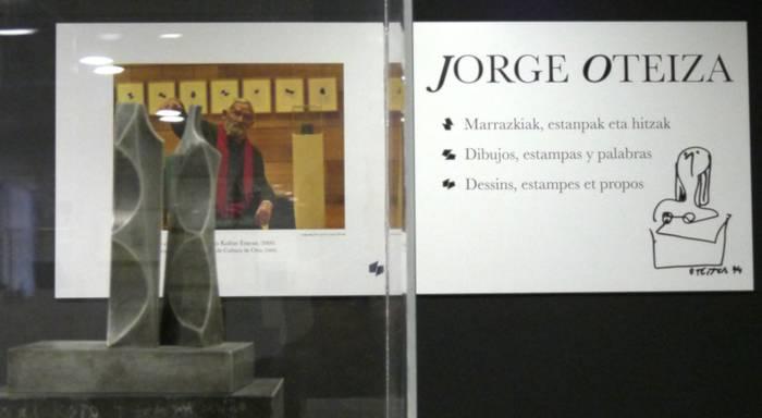 Jorge Oteizaren obra Arantzazuko Gandiaga eraikinean ikusgai