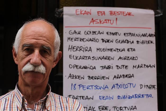"""Xabier Zubizarreta: """"Ordua iritsi da hemengo ordezkari instituzional guztiek nahikoa dela esateko"""""""