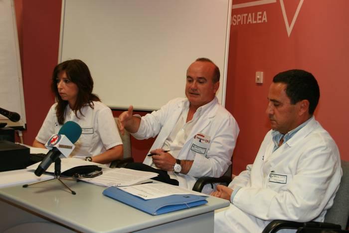 A gripearen aurrean zela jokatu azaldu dute ospitaleko medikuek