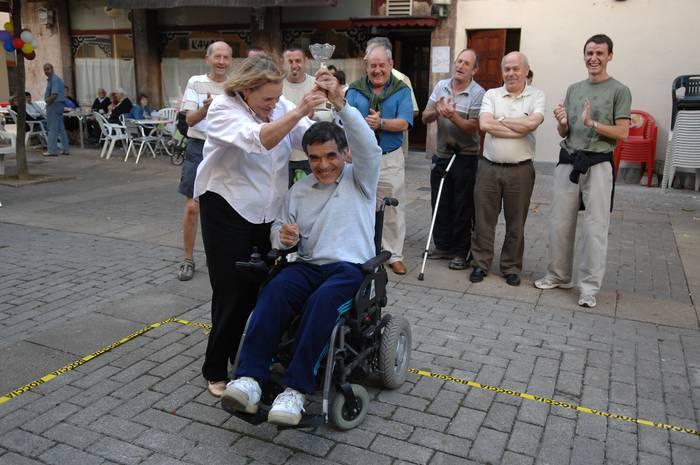 Agustin Toledo bergararrak omenaldia jaso zuen