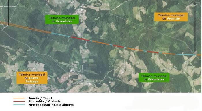 AHT: Uriarteko biaduktua eraikitzen hasi dira, Eskoriatza-Aramaio zatian