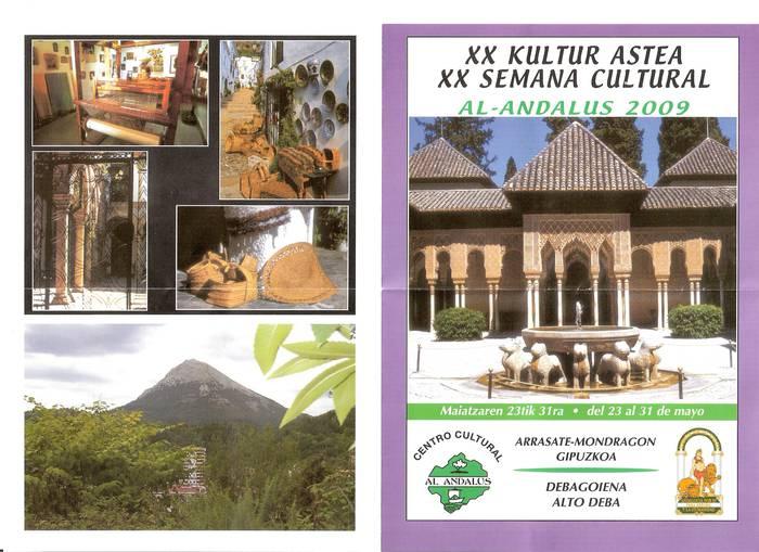Al-Andalus elkarteak Kultura Astea ospatuko du