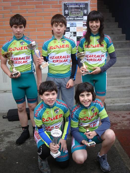 Aloñako ziklistek emaitza onak lortu zituzten Bergaran