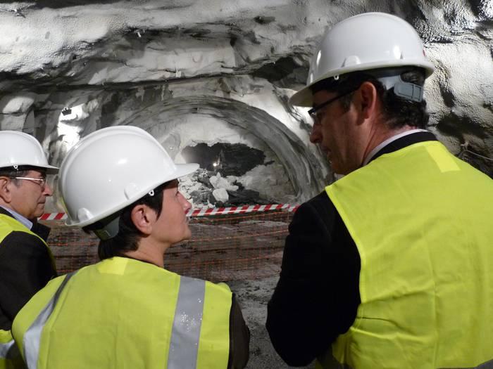 Bat egin dute Olandixoko tunelaren bi aldeek