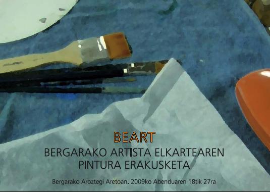 BEART elkartearen pintura erakusketa zabalduko da barikuan