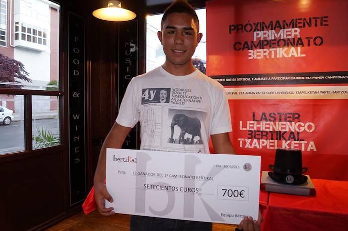 Pablo Lombardo irabazle lehenengo Bertikal txapelketan