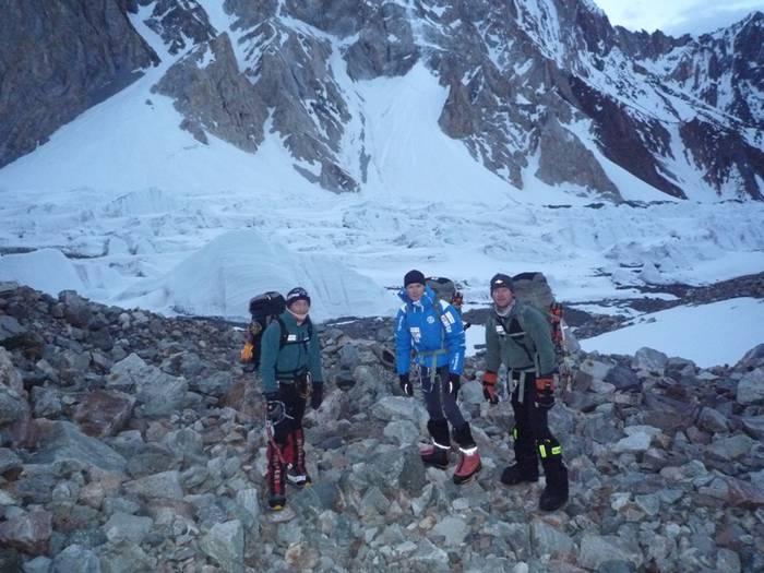 Broad Peak espedizioko kideak 6.200 metrora heldu dira
