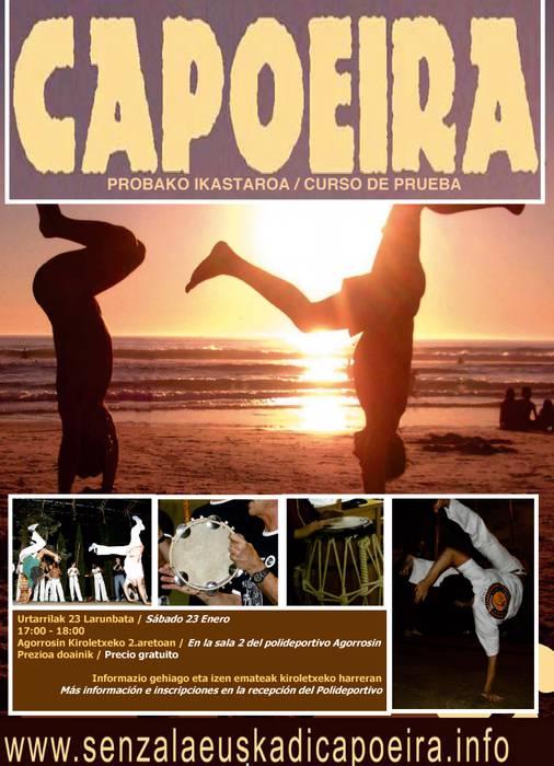 Capoeira gertutik ezagutzeko saio irekia