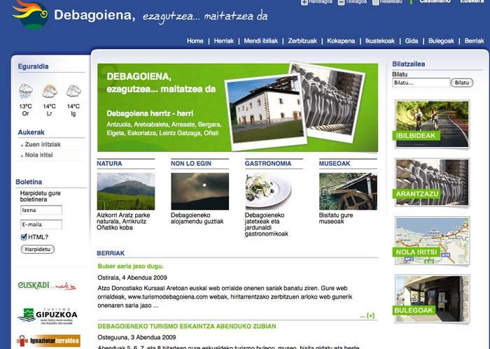 Debagoieneko turismo webgunea, zerbitzu-webik onena Buber sarietan