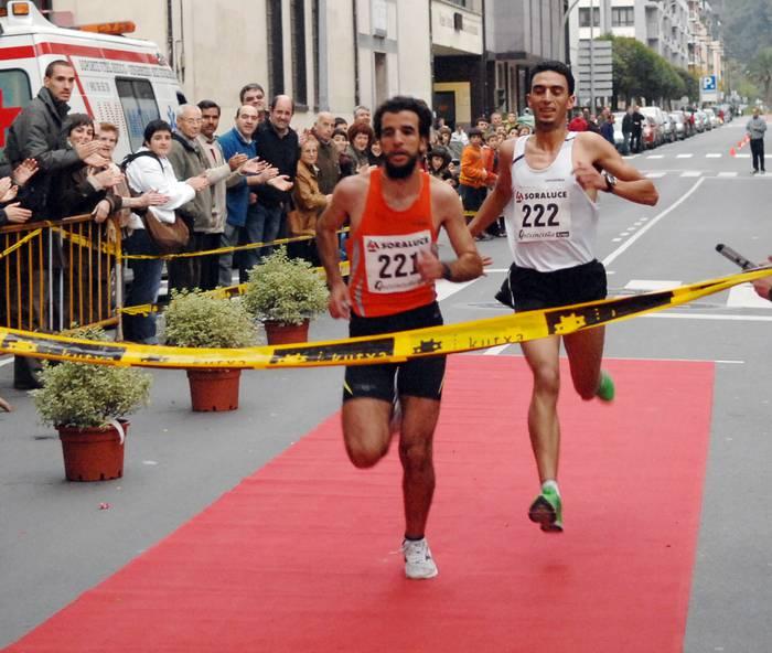 Driss Bensaidek esprintean irabazi zuen Soraluze-Bergara krosa