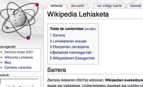 Euskal Wikipedia bultzatzeko lehiaketa