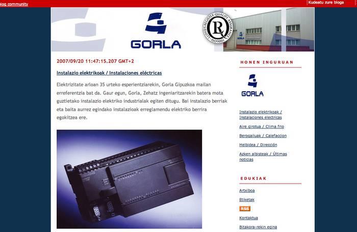Gorla elektrizitateak bloga dauka Goiena.Net-n