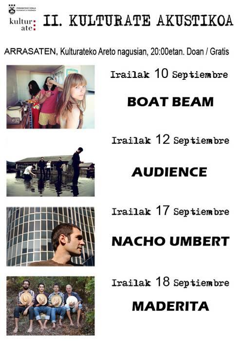 II. Kulturate akustikoa barikuan hasiko da Boat Beam taldearekin