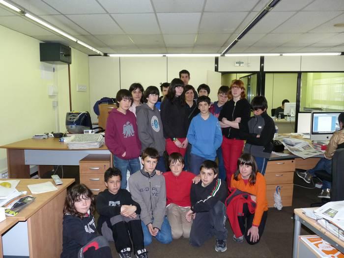 Institutuko 12-14 urteko ikasleak Goienan bisitan