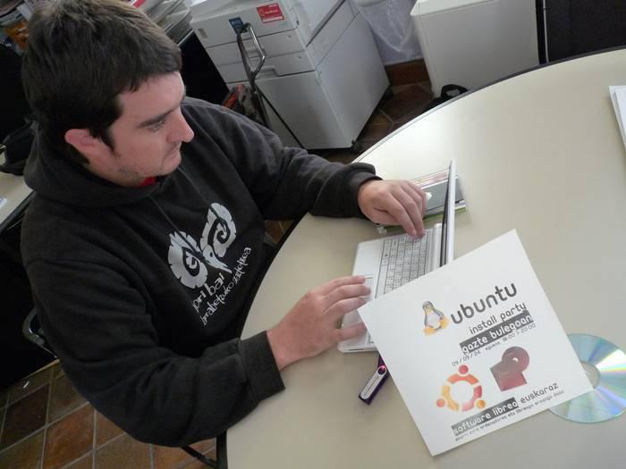 Irailaren 24an 'Ubuntu Install party'a egingo dute Gazte bulegoan