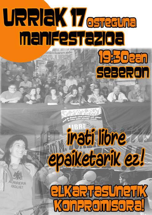 35/02 eta 26/11 epaiketen kontra manifestazioa deitu dute Arrasaten eguenerako