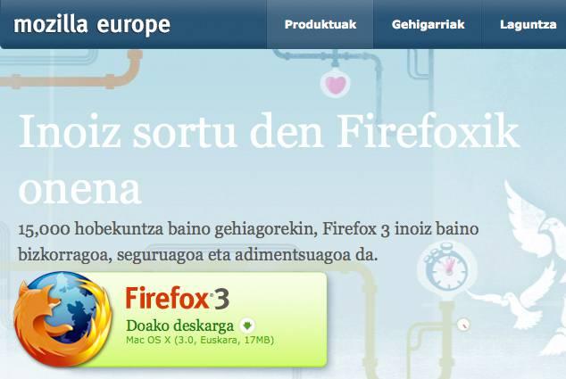 Jaitsi eta instalatu Firefox 3