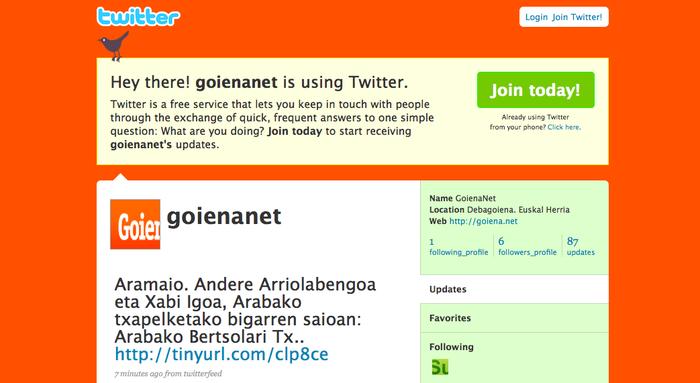 Jarraitu Goiena.net, Twitter eta Facebook bidez