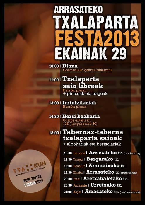 Txalaparta Festa Arrasaten, ekainaren 29an