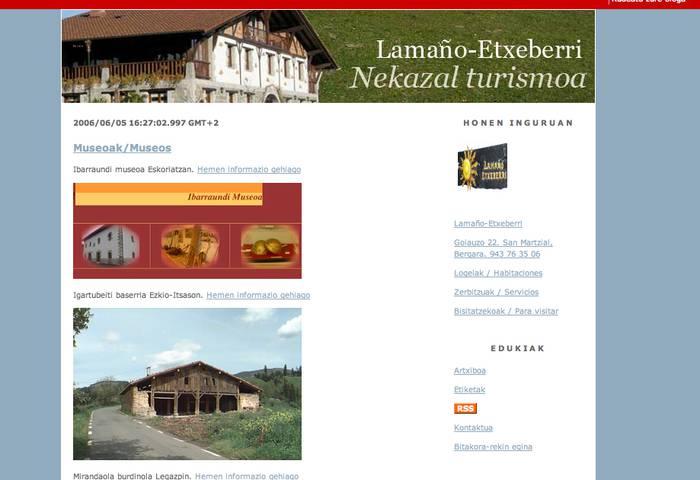 Lamaño-Etxeberrik bloga dauka
