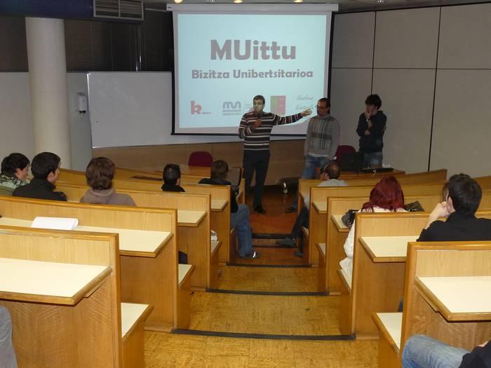 """""""MUittu"""" sortu dute, unibertsitate bizitza suspertzeko"""