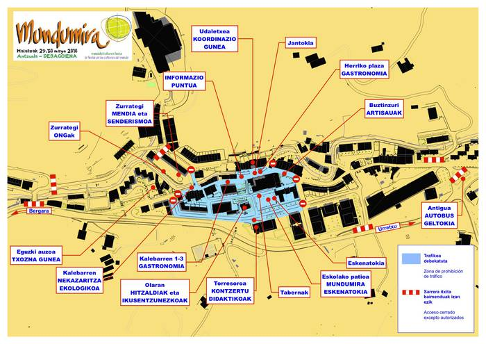Mundumira 2010: autobusen ordutegiak eta jaialdiko guneak