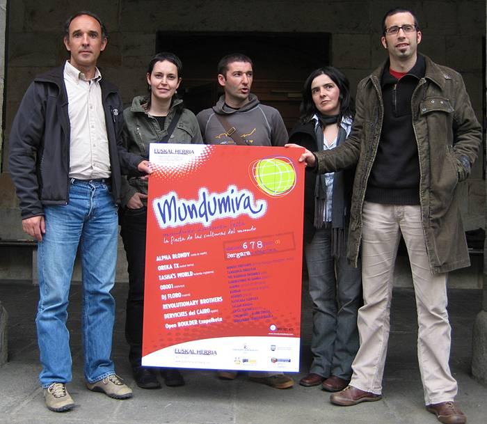 Mundumira 08: bost kontinenteak batzeko festa ekainean Bergaran